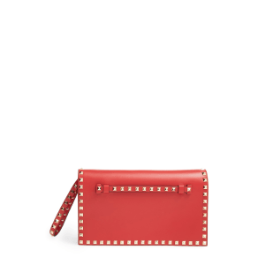 Valentino Garavani 'Rockstud' Leather Flap Clutch -