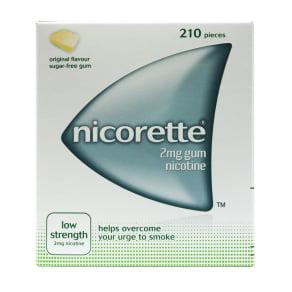 Nicorette Original Gum 2mg Low Strength 210 Pieces