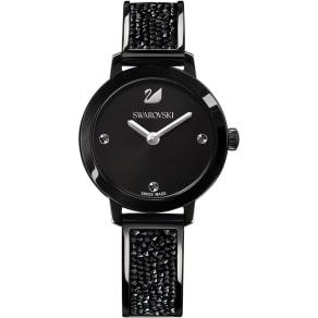 Swarovski Cosmic Rock Watch, Metal Bracelet, Black, Black Tone