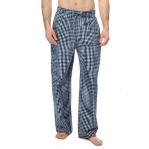 Mantaray - Big And Tall 2 Pack Blue Checked Pyjama Bottoms