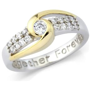 Gold Plated Silver 'Together Forever' Ring - T