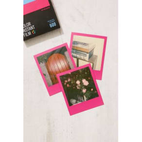 Impossible Colour Polaroid 600 Hot Pink Frame Instant Film, Pink