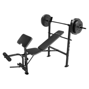 Competitor Pro Bench With 80lb Weight Set, Black