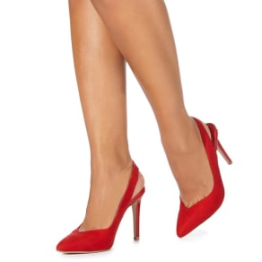 Faith Red 'Casey' High Stiletto Heel Pointed Shoes