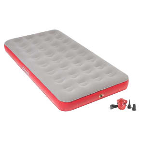 Coleman Quickbed Air Mattress Single High Twin With Pump - Grey, Gray/Red