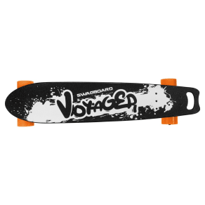 Swagtron Swagboard Voyager Longboard Electric Skateboard With Remote Control - Black