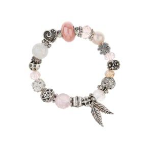 Pink Stretch Charm Bracelet