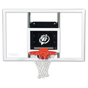 Goalsetter Gs72 72 Baseline Wall-Mounted Glass Basketball Hoop With Hd Breakaway Rim, Multi-Colored