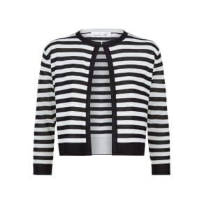 Damsel in a Dress Stripey Cardigan, Black