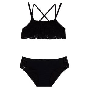 Girl's Gossip Girl Festival Fantasy Two-Piece Swimsuit, Size 16 - Black