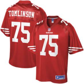 Men's Nfl Pro Line Laken Tomlinson Scarlet San Francisco 49ers Player Jersey