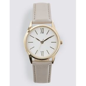 M&S Collection Slim Round Face Strap Watch