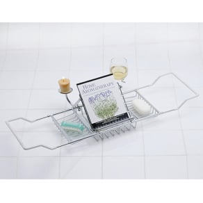 Aromatherapy Bathtub Caddy - Chrome