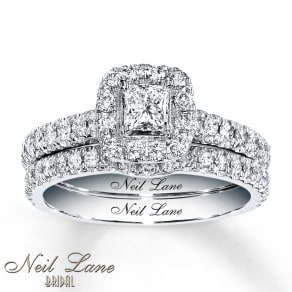 Neil Lane Bridal Set 1 Ct Tw Diamonds 14k White Gold