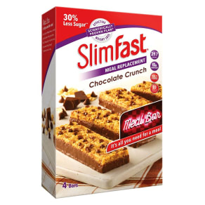 Slimfast Meal Replacement Chocolate Crunch Meal Bar 4 X 60g