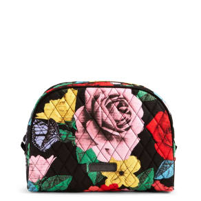 Vera Bradley Large Zip Cosmetic in Havana Rose