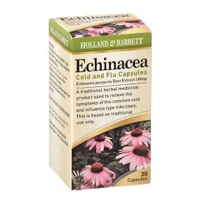 Holland & Barrett Echinacea Cold & Flu 30 Capsules - 30Capsules