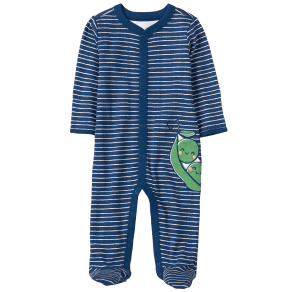 Boy's Pea Pod Footed 1-Piece by Gymboree - Size Nb - Gym Navy Stripe - Gym Navy Stripe