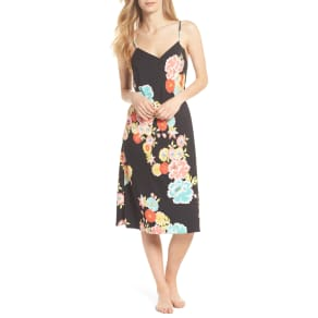 Women's Natori Saipan Nightgown, Size X-Small - Black