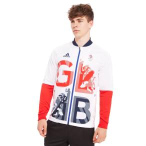 Adidas Team Gb Podium Track Jacket - White/Red - Mens