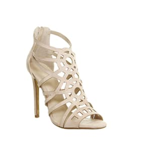 Office Precious Cut Out Shoe Boots Nude