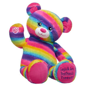 Online Exclusive Jumbo Personalized Rainbow Friends Bear
