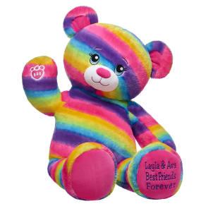 Online Exclusive Jumbo Personalized Rainbow Friends Bear