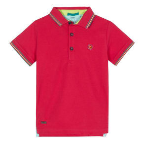 Baker by Ted Baker Boys' Pink Tipped Polo Shirt