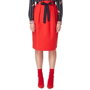 Studio by Preen Red High Waisted Midi Skirt