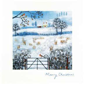 Woodmansterne Looking Across Fields Christmas Card