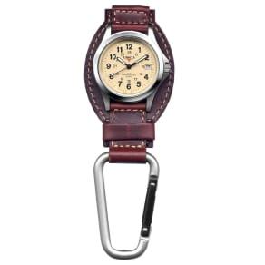 Dakota Watch Company Brown Leather Field Clip Watch