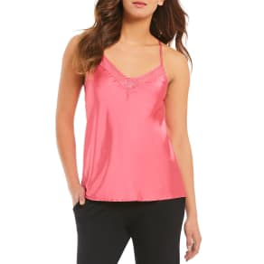 Modern Movement Satin & Lace Racerback Camisole
