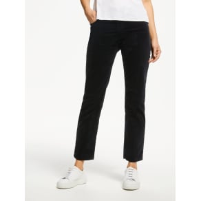Ag the Isabelle High Rise Straight Cropped Jean, Super Black