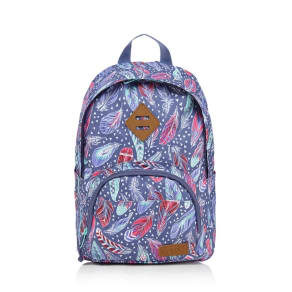 Animal Girls' Purple Feather Print Backpack