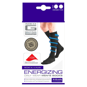 Neo G Energizing Daily Wear Men's Socks White - Medium