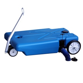 Barker Mfg 32 Gallon 4-Wheeler Tote Along, Blue