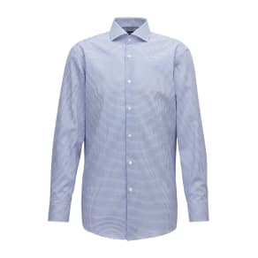 Hugo Boss Slim-Fit Shirt in Easy-Iron Checked Cotton Poplin