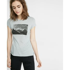Express Womens Express One Eleven Chamonix Graphic Crew Neck Tee