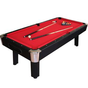 Sportcraft 8' Red Billiard Table W/ Table Tennis Top