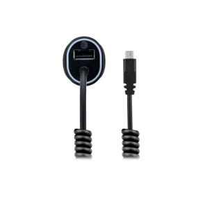 At & T 3.4a Single Usb and Corded Micro Usb Car Charger