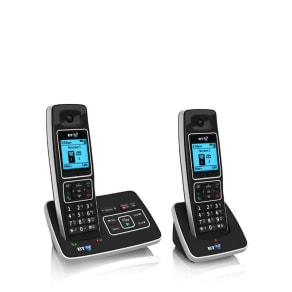 Bt Black 6500 Twin Dect Telephone With Answering Machine & Nuisance Call Blocker