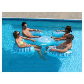 Aviva Paradise Lounge Pool Float, Multi-Colored