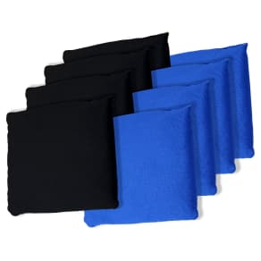 Black and Blue Cornhole Bags, Set of 8