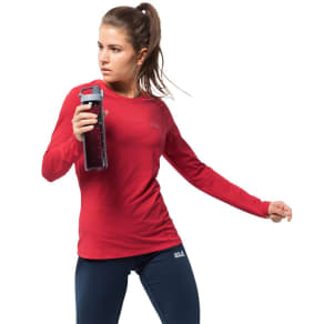 Jack Wolfskin Long Sleeved Functional Shirt Women Hollow Range Longsleeve Women Xs Red
