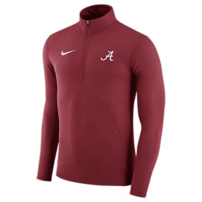 Men's Nike Alabama Crimson Tide College Element Half-Zip Shirt, Red