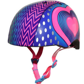 Raskullz Led Hearts Child Bike Helmet - Pink/Blue, Multi-Colored