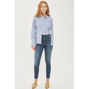 Womens Moto Sulphur Blue Jamie Jeans