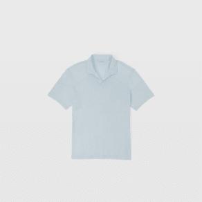 Club Monaco Color Blue Cotton Slub Polo