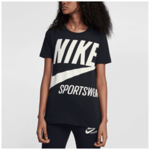 Womens Nike Archive T-Shirt - Black/Sail