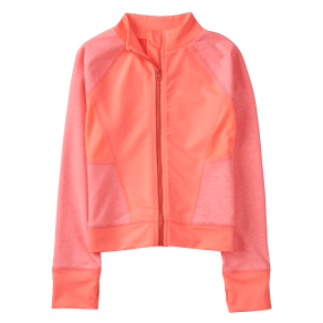 Girl's gymgo Track Jacket by Gymboree - Size XS - Rosy Coral - Rosy Coral